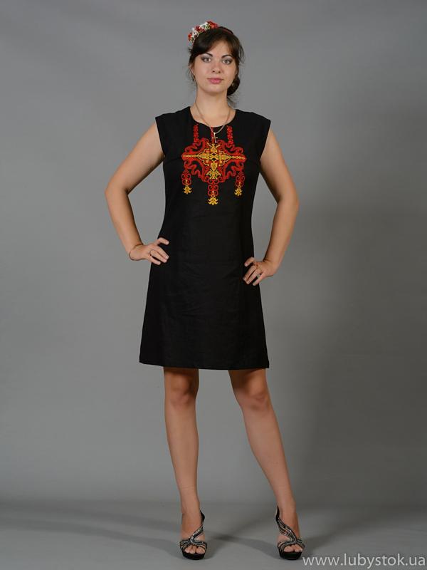 Вишита сукня хрестиком ЖПВ 45-1