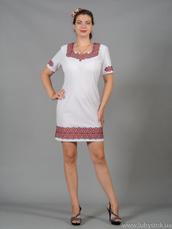 Вишита сукня хрестиком ЖПВ 46-1