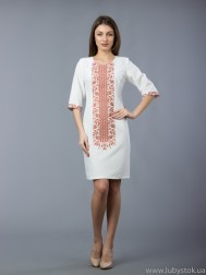 Вишите плаття D-048-02