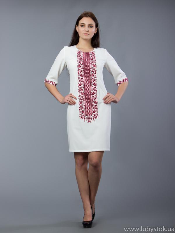 Вишита сукня хрестиком ЖПВ 48-5 купити 77c6086f97e16