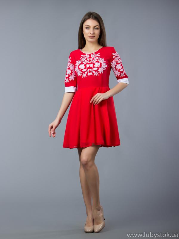Вишита сукня хрестиком ЖПВ 54-1