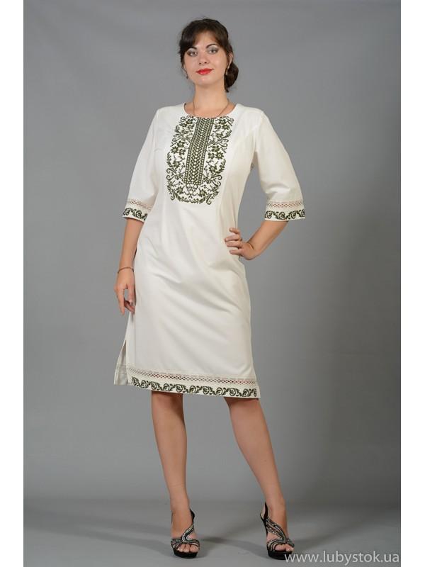 Вишита сукня хрестиком ЖПВ 61-1