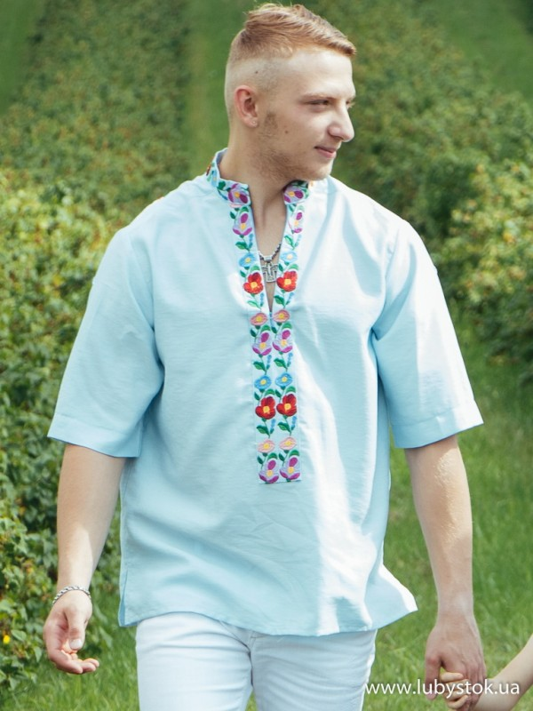 Вишита сорочка гладдю ЧСВ 70-1