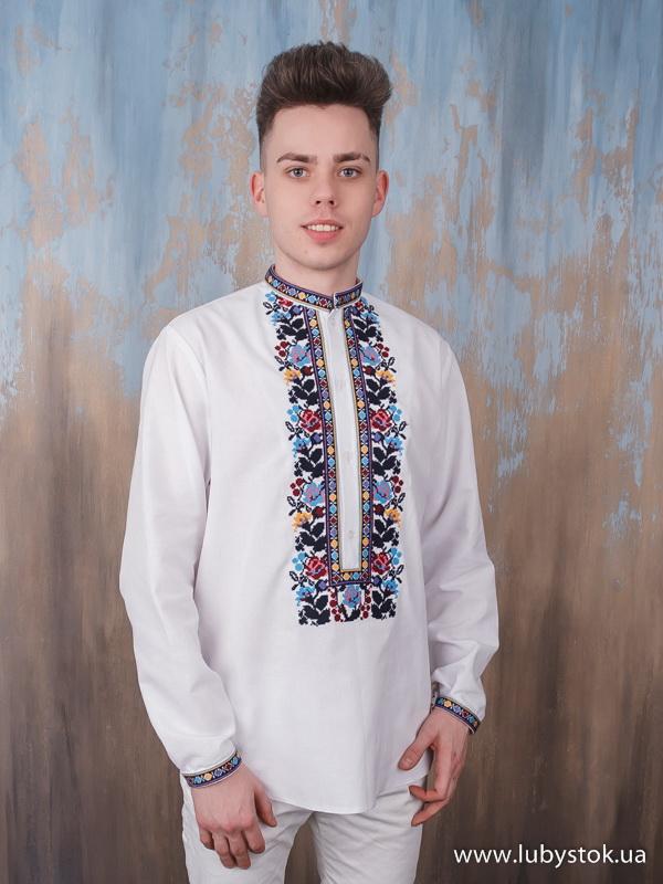 Вишита сорочка хрестиком ЧСВ 113-1М