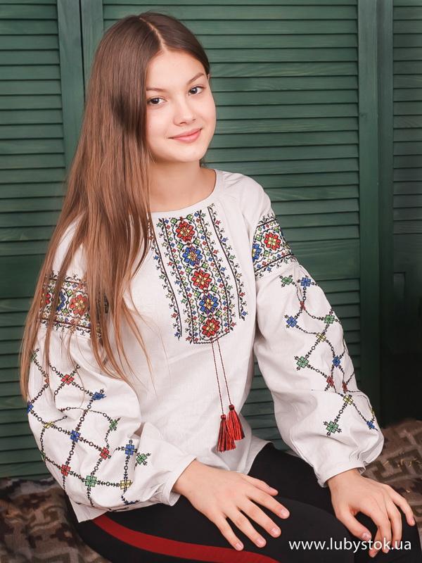 Вишиванка хрестиком жіноча ЖБВ 55-1 - купити 7ddf390e387e5