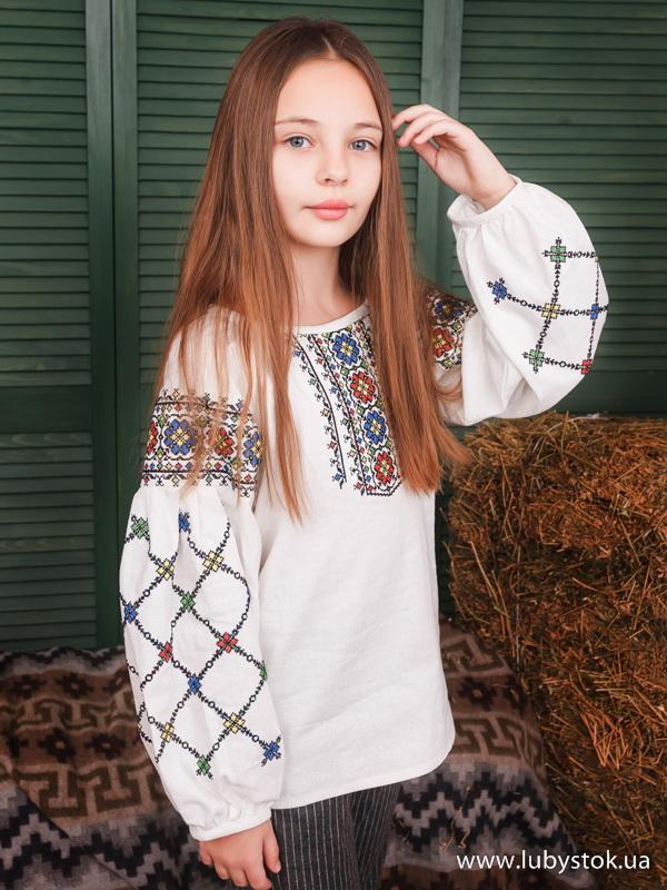 Вишиванка для дівчинки хрестиком ЖБВ 55-1Д - купити 1ee1252a673a8