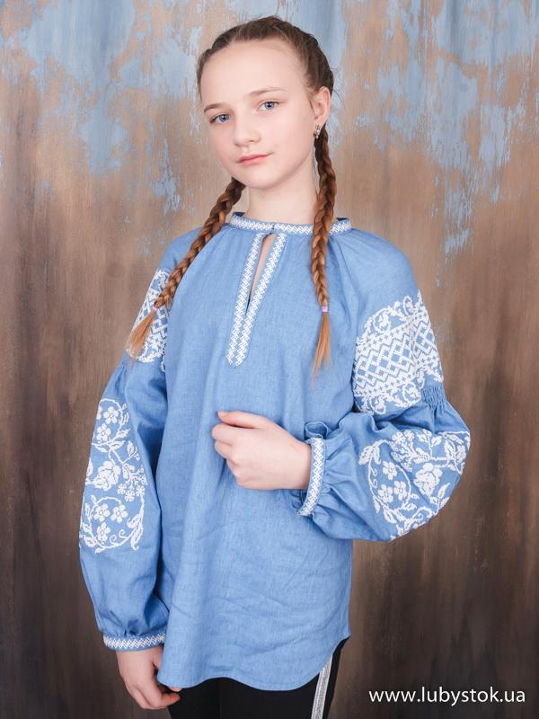 Вишиванка хрестиком для дівчинки ЖБВ 57-1