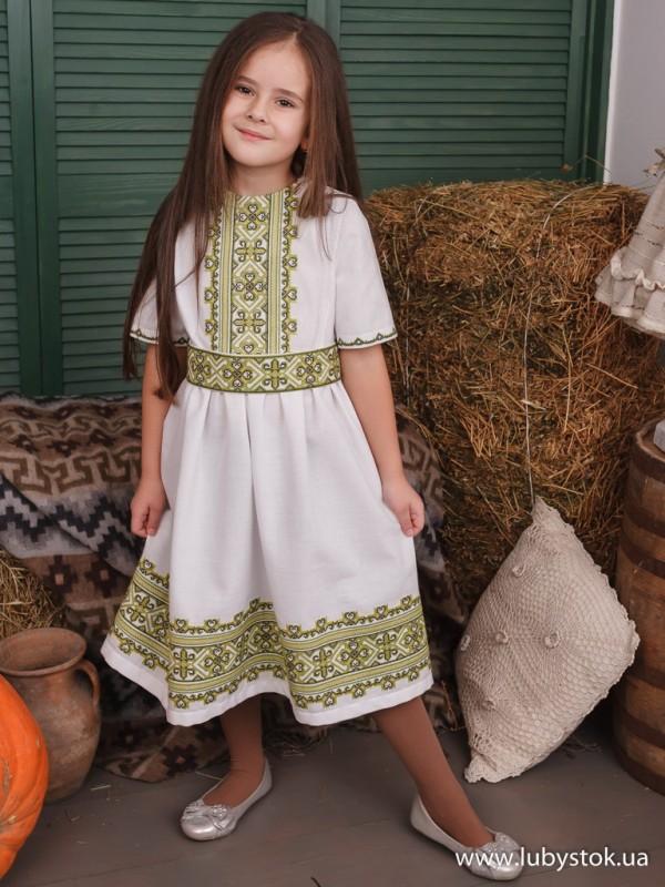Вишита сукня для дівчинки ЖПВ 122-1