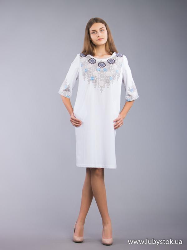 Вишита сукня хрестиком ЖПВ 62-1
