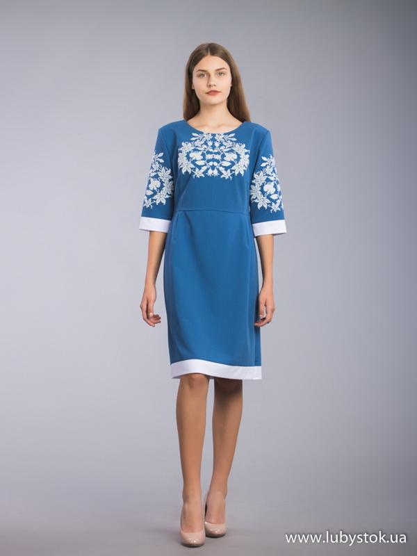 Вишита сукня хрестиком ЖПВ 63-1