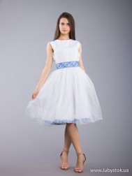 Вишита сукня хрестиком ЖПВ 67-1