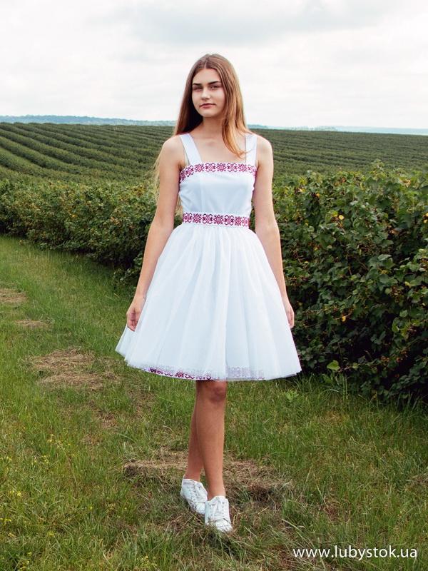 Вишита сукня хрестиком ЖПВ 68-1