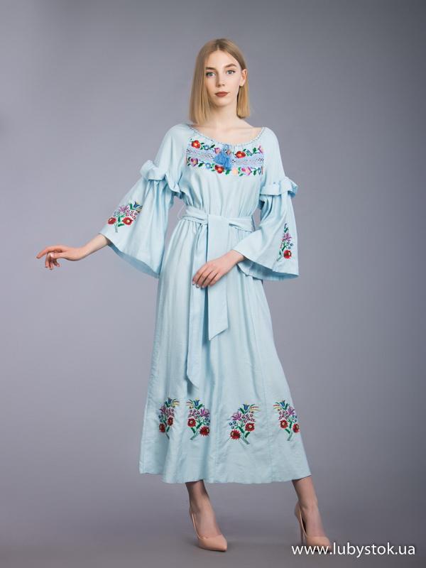 Вишита сукня гладдю ЖПВ 70-1
