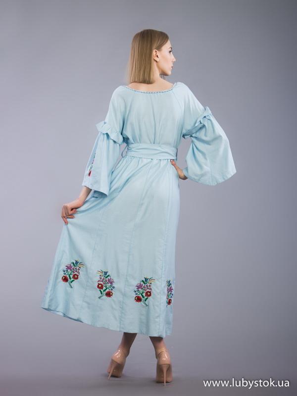 ac688095c4760a Вишита сукня гладдю ЖПВ 70-1 - сукня на літо з квітами - купити