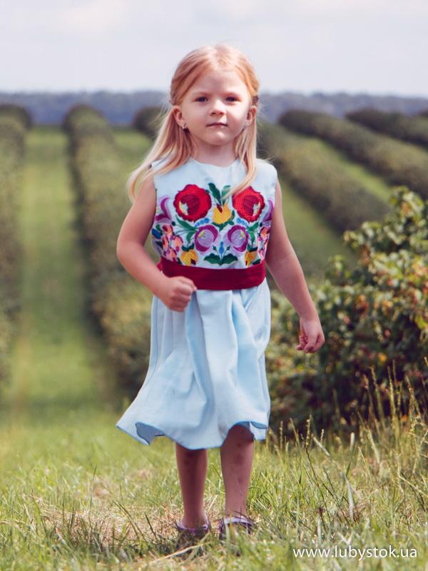 Вишита сукня для дівчинки ЖПВ 74-1