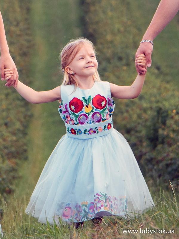 Вишита сукня для дівчинки ЖПВ 75-1