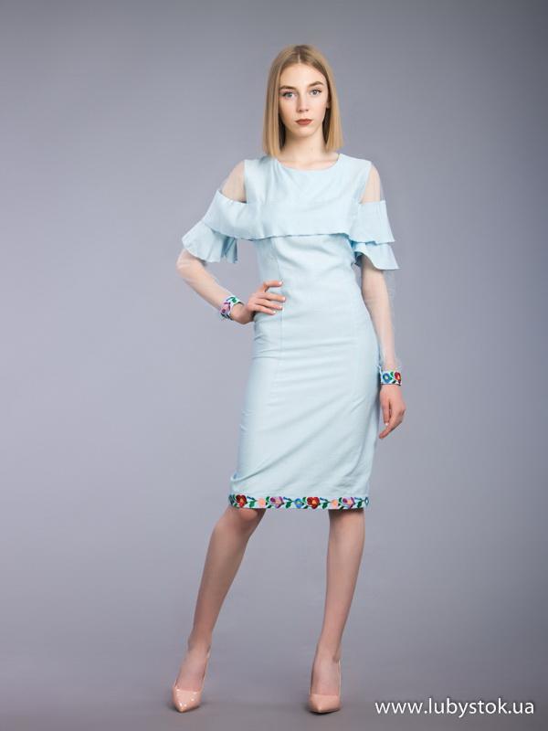 Вишита сукня гладдю ЖПВ 79-1