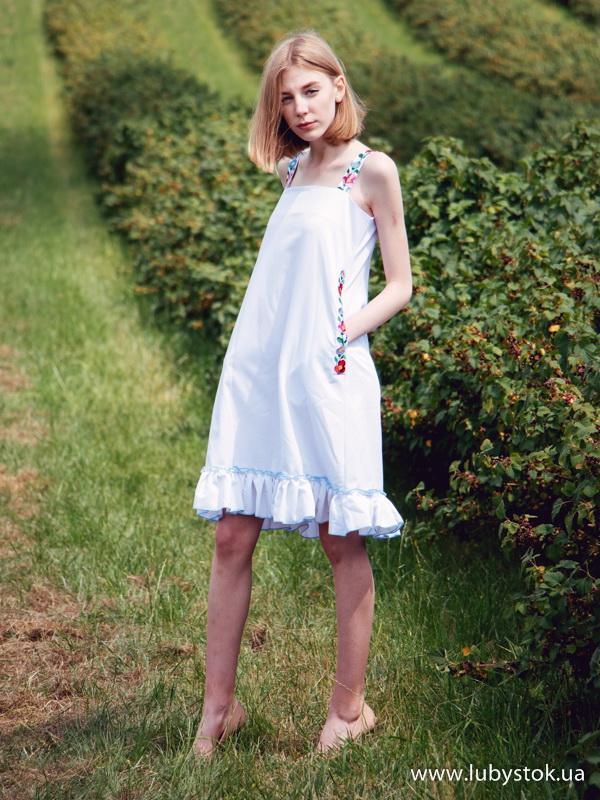 6b4c3c55790b62 Вишита сукня гладдю ЖПВ 80-1 - сукня на літо з квітами - купити