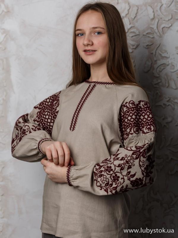 Жіноча вишиванка B-057-09