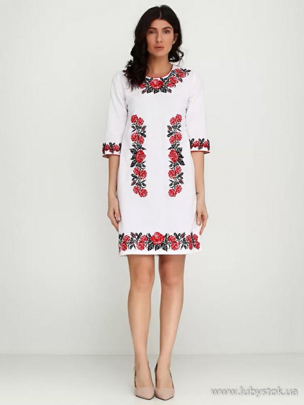 Вишита сукня D-004-01