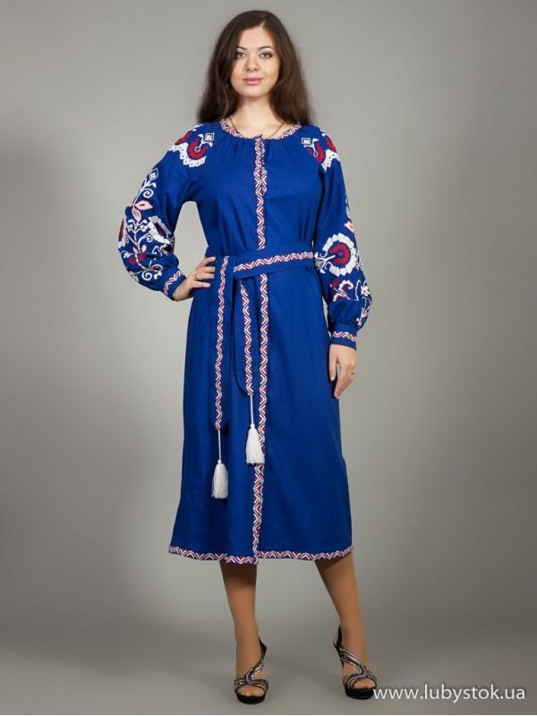 Вишита сукня D-010-01