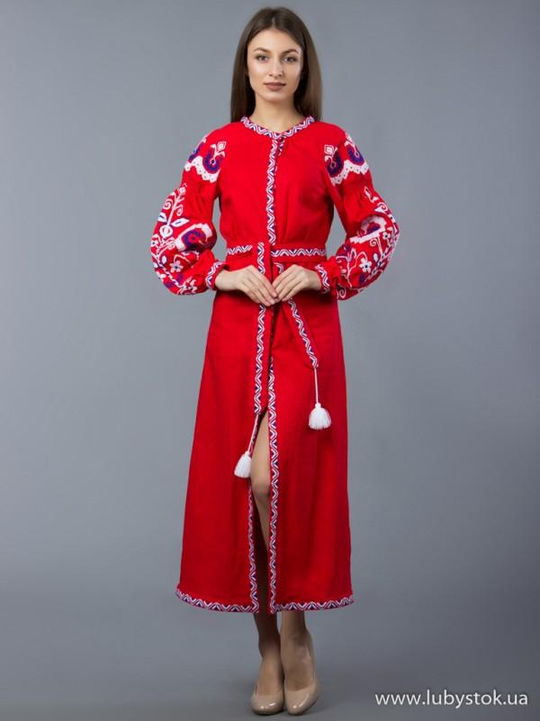 Вишита сукня D-010-02