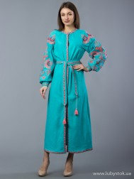 Вишите плаття D-010-04