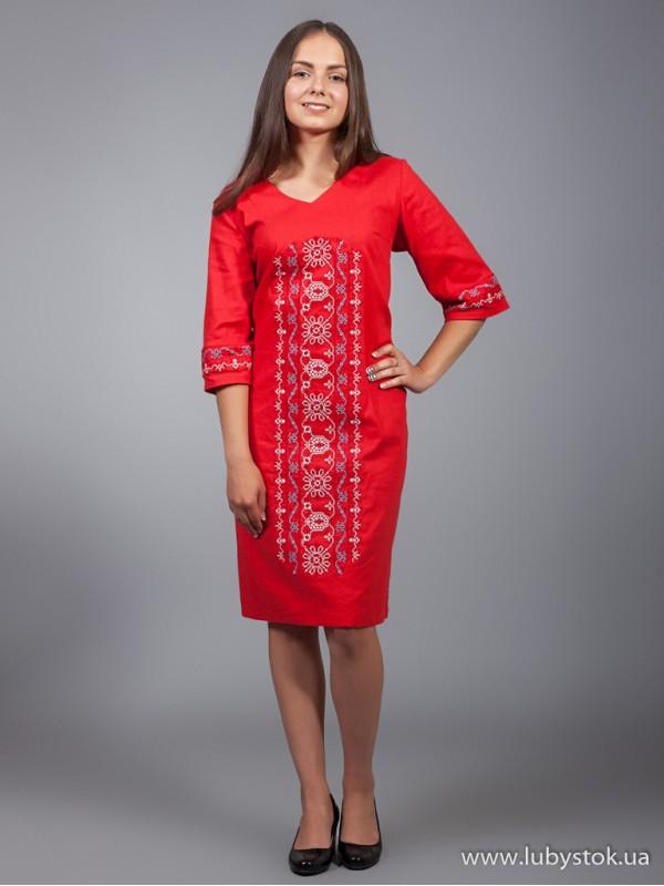 Вишита сукня D-015-01