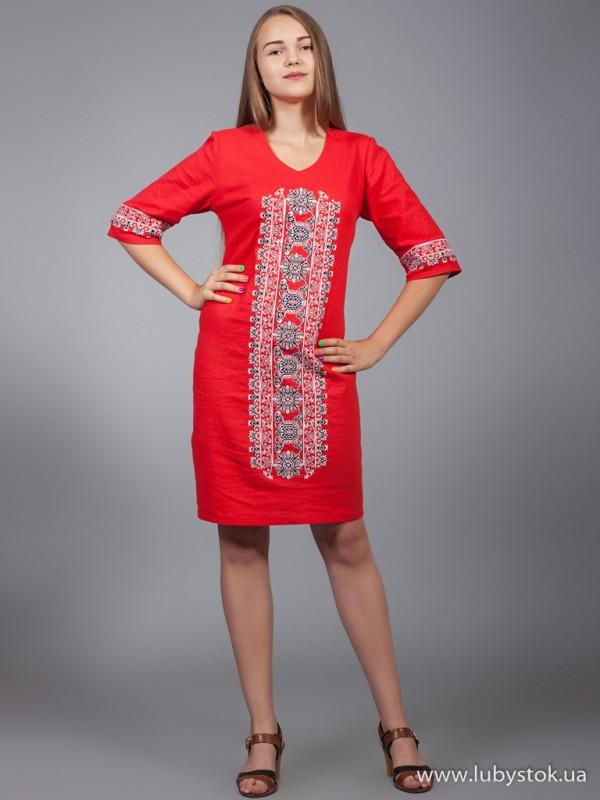 Вишита сукня D-015-02
