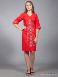 Вишите плаття D-015-04