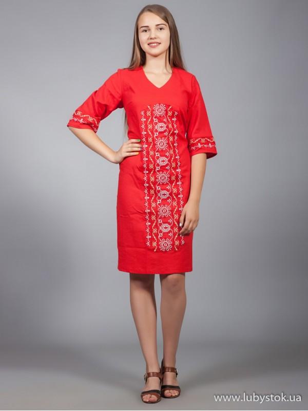 Вишита сукня D-015-04