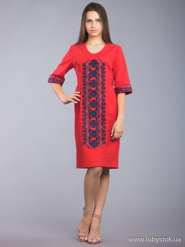 Вишита сукня D-015-05