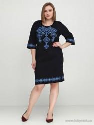 Вишите плаття великого розміру D-016-02-b