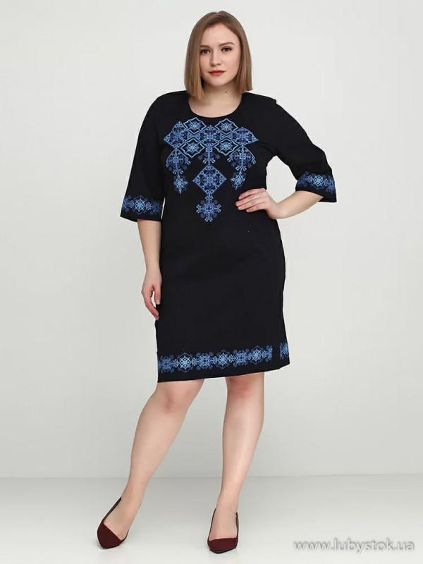 Вишита сукня великого розміру D-016-02-b