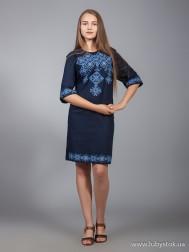 Вишите плаття D-016-02