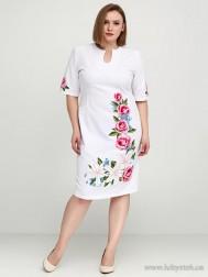 Вишите плаття великого розміру D-020-01-b