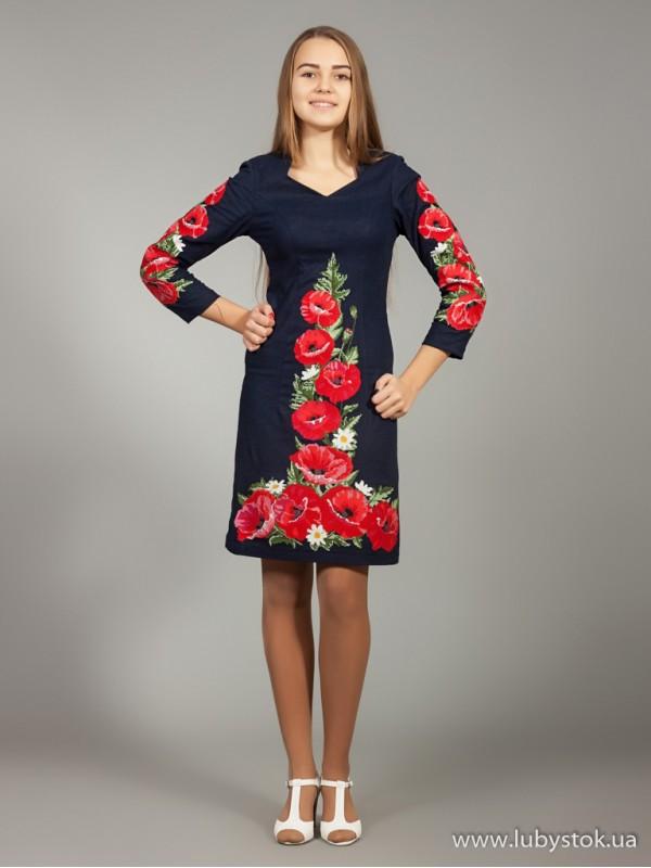 Вишита сукня D-024-01