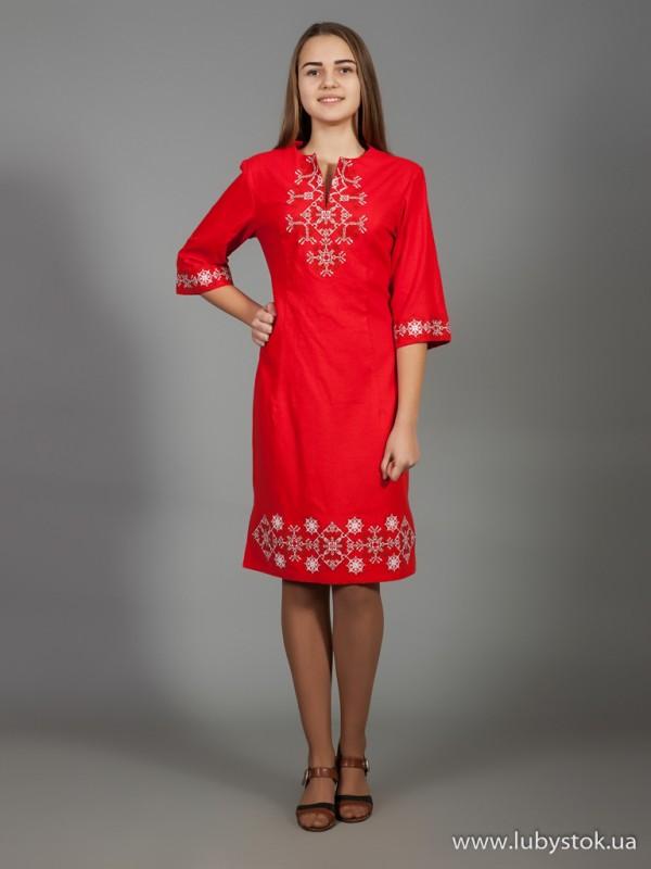 Вишита сукня D-026-01
