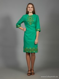 Вишите плаття D-026-03