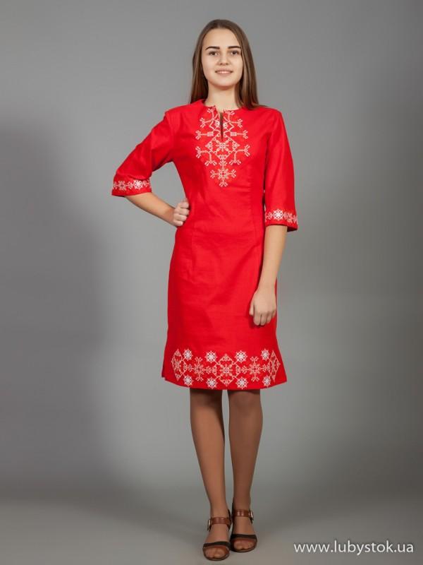 Вишита сукня D-026-04