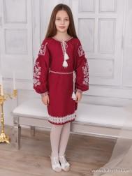Вишите плаття для дівчинки D-069-02-d