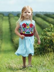 Вишите плаття для дівчинки D-074-01-d