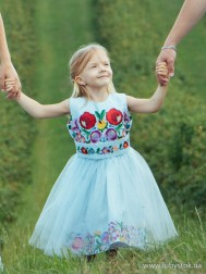 Вишите плаття для дівчинки D-075-01-d