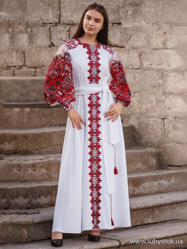 Вишита сукня D-082-02
