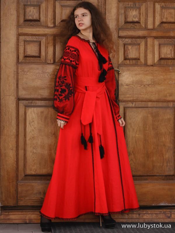 Вишита сукня D-087-01