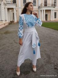 Вишите плаття D-098-02