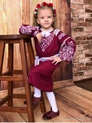 Вишите плаття для дівчинки D-101-01-d