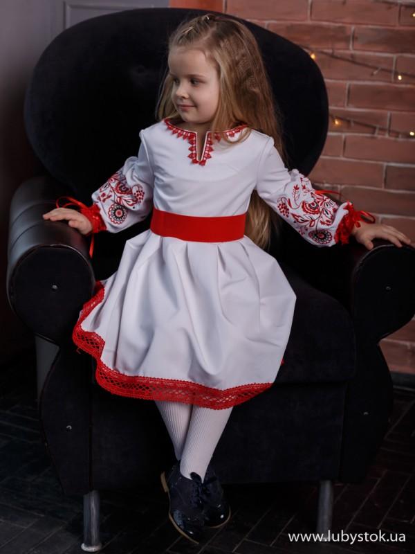 Вишита сукня для дівчинки D-104-01-d