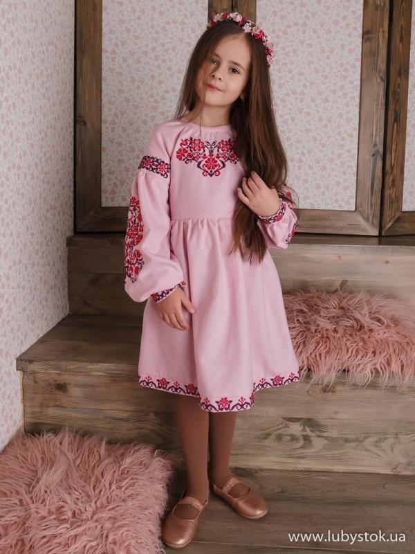 Вишита сукня для дівчинки D-106-01-d