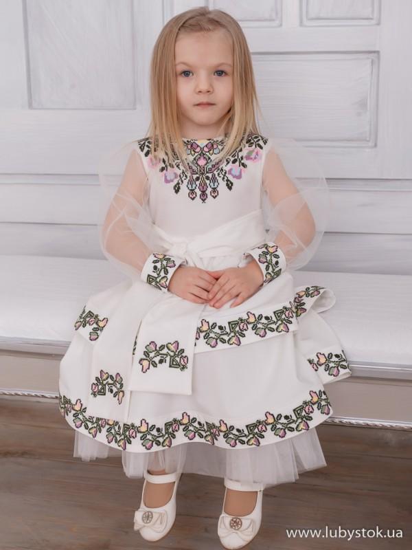 Вишита сукня для дівчинки D-108-01-d